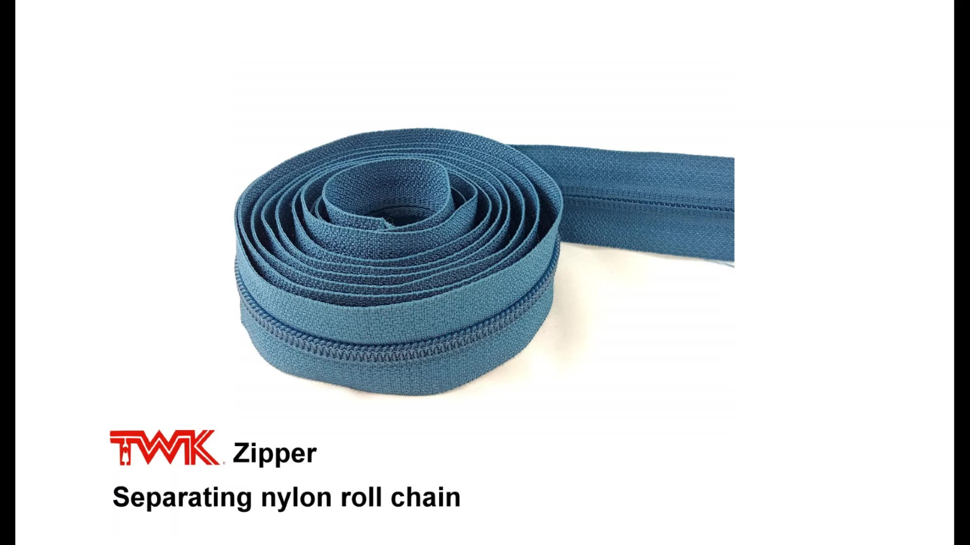 zippers nylon #3 spiral plastic teeth coil zips #5 factory wholesales