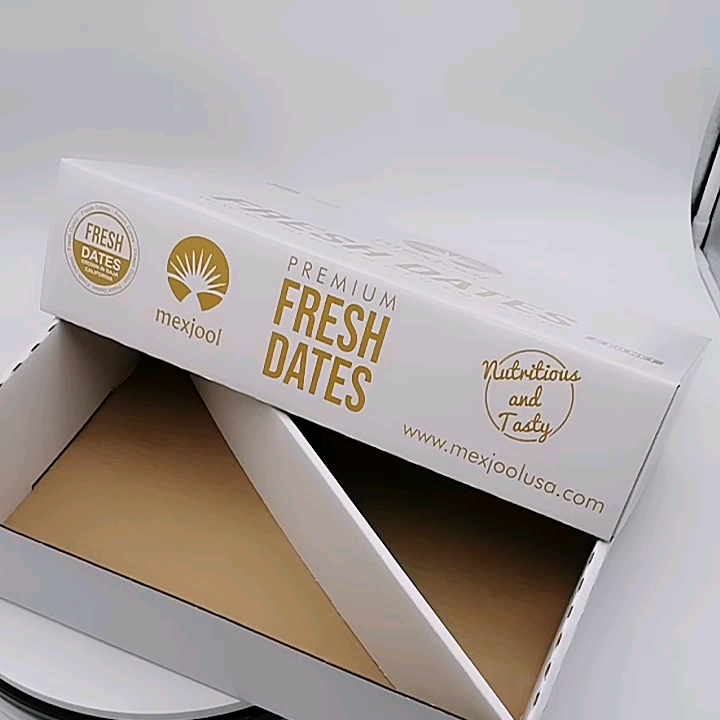 Wholesale custom dates Corrugated paper box with comparents