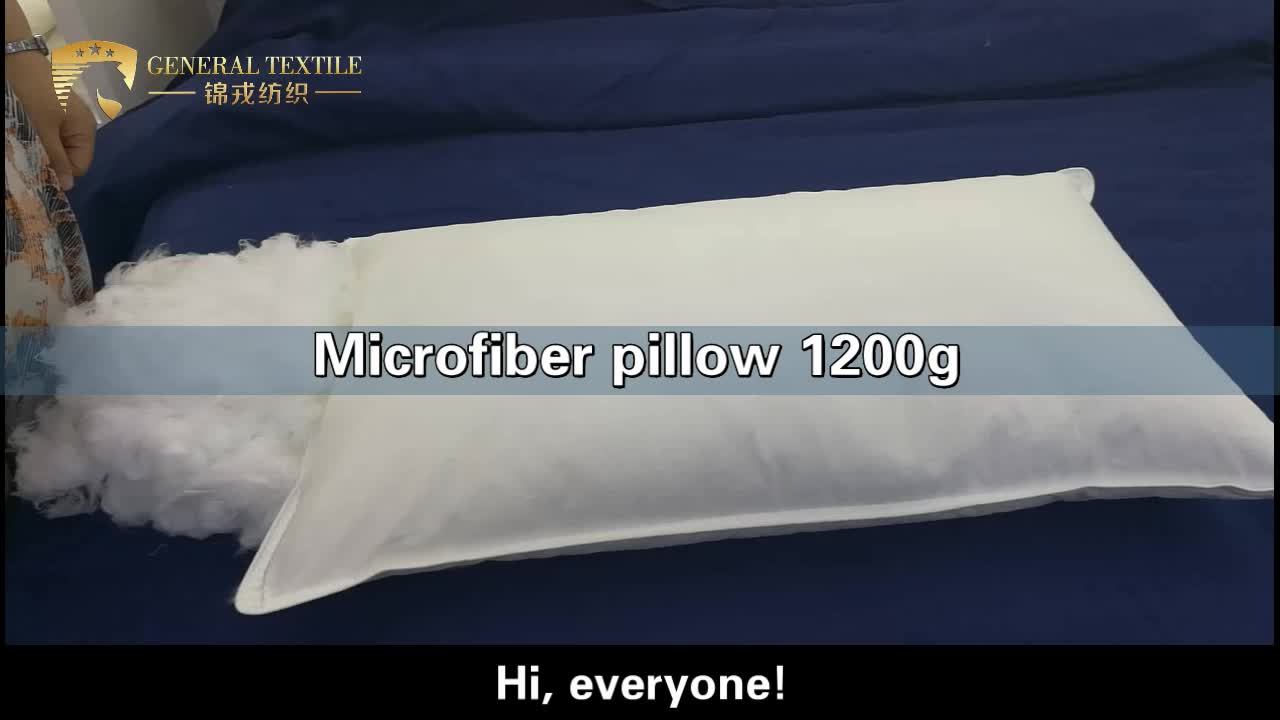 5 star hotel wholesale king size 7D-hollew fiber pillow