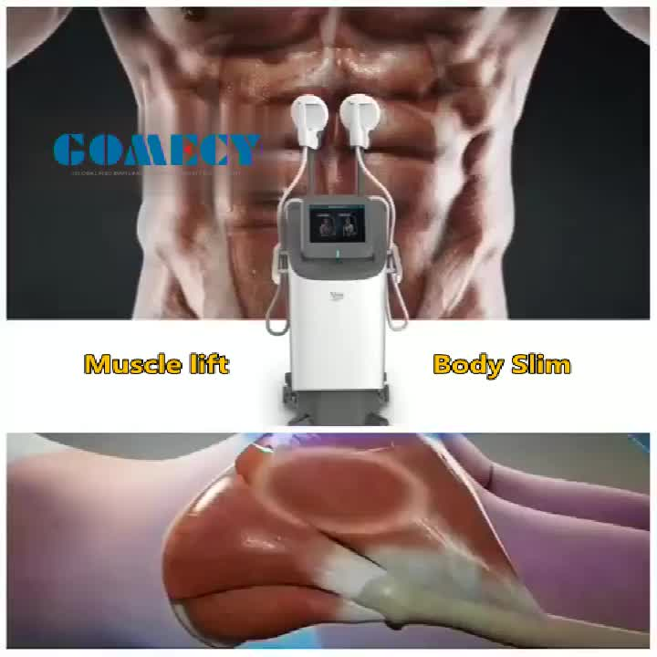 GOMECY 2020 Newest stong muscle lifting hip Popo fat melting thighs slimming  Electro Magnetic beauty device body studio machine
