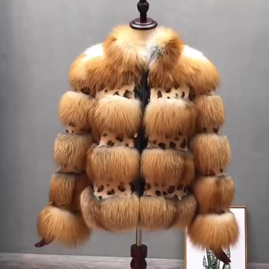 2019 wholesale fashion cheap fashion luxury hooded real red fox fur coat