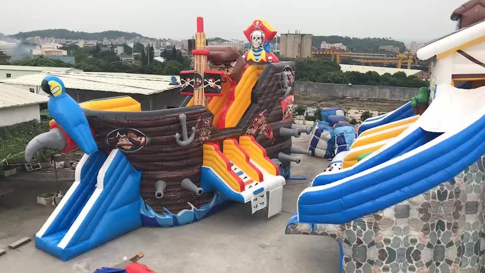 EN14960 0.55mm PVC Realistic gigante crocodilo corrediça inflável seca