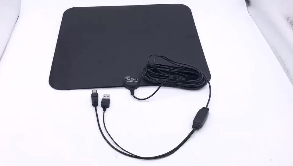 High quality VHF UHF TV Antenna 50 Miles Amplified HDTV Indoor clear tv digital hd antenna