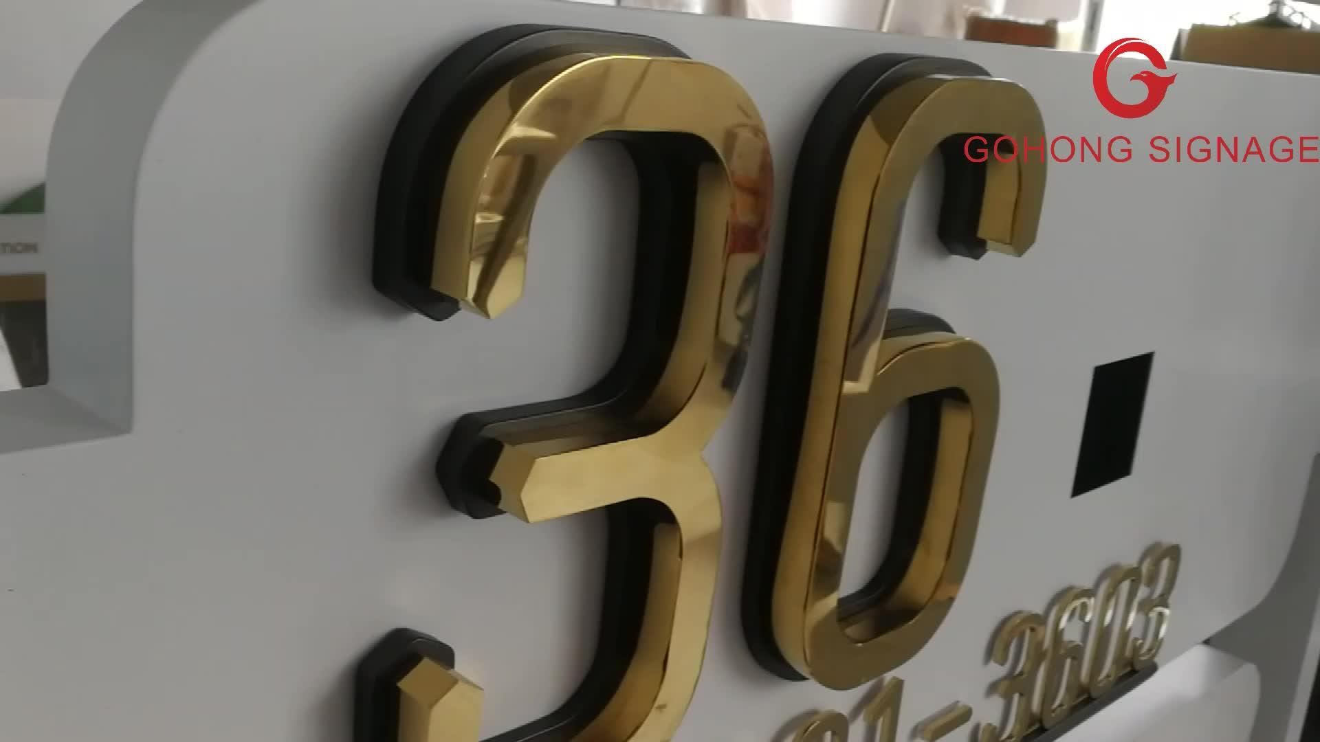 3d letras do alfabeto em aço inoxidável galvanoplastia de metal carta sinais de canal 3d carta canal