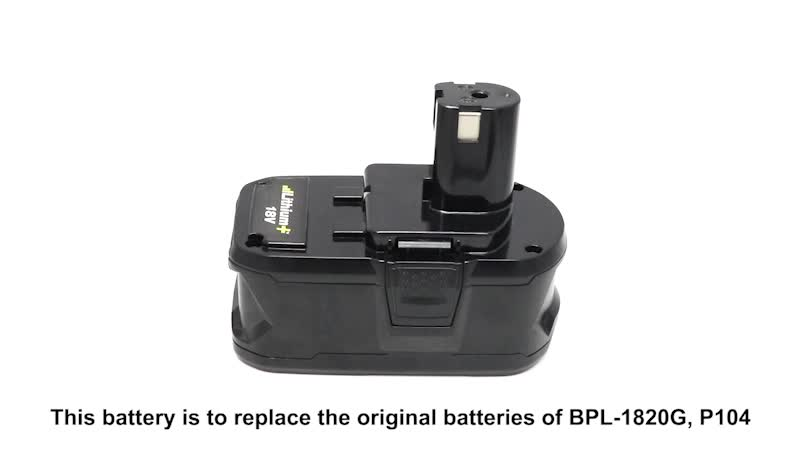 Rechargeable Battery Pack for Ryobi 18V Lhium ion P100 P102 P103 P104 P105 P106 P107 P108