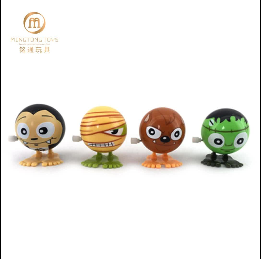 Kid terrorist plastic funny jumping small gift cheer children up Halloween wind up toys