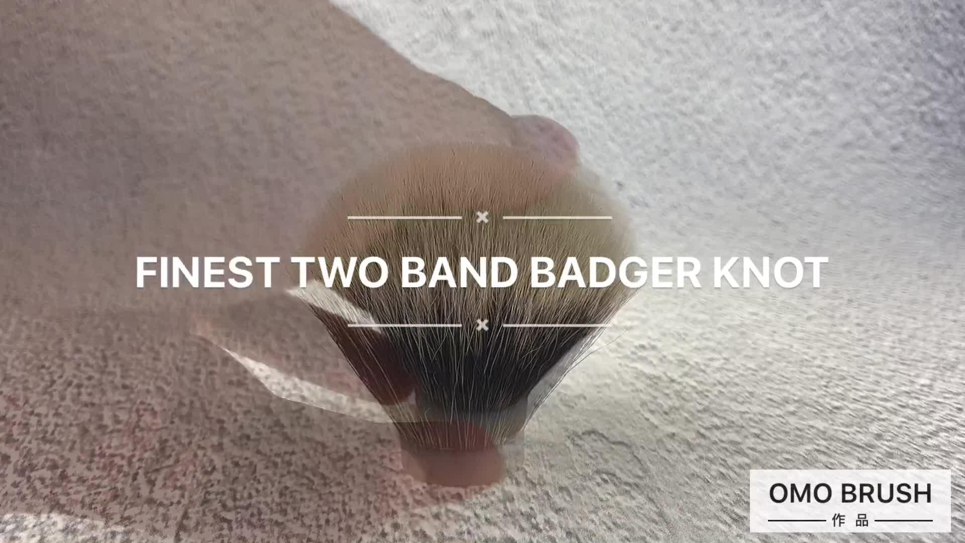 24*68 Finest two band shaving brush knot comfortable badger hair low moq shaving brush knot