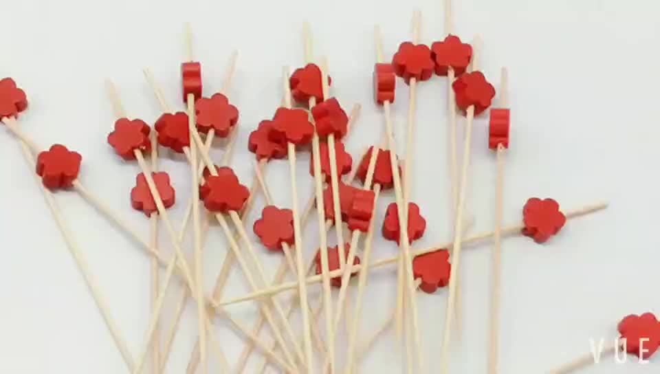 Heat Resistance Feature and bamboo Material fruit kabobs skewer