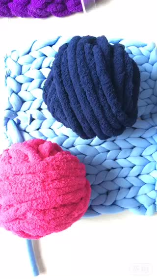 Hand Knitting Polyester Chenille Yarn For Hat Knitting Patterns