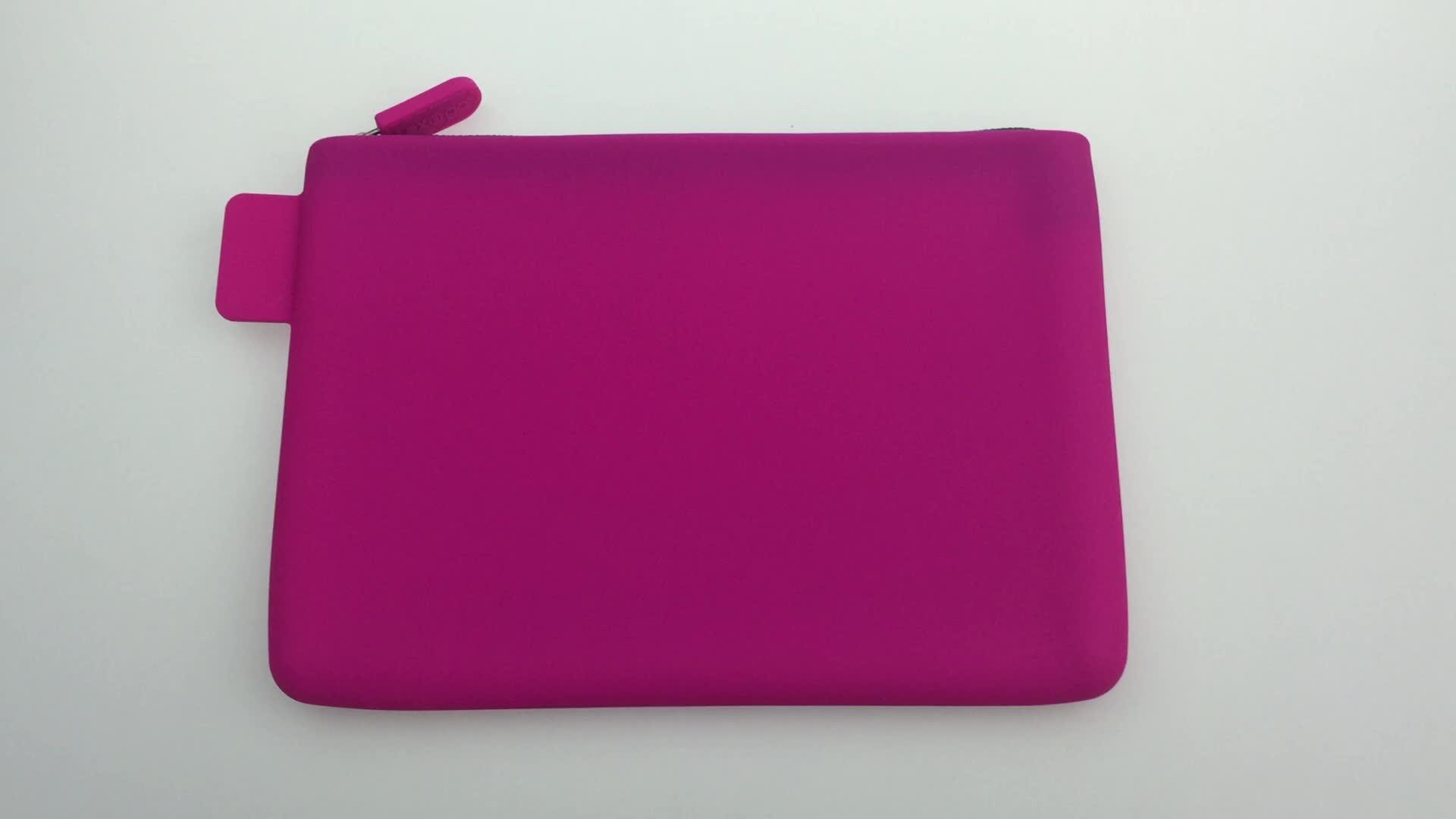 C-0010 Modische wasserdichte silikon kosmetik tasche/Bleistift tasche