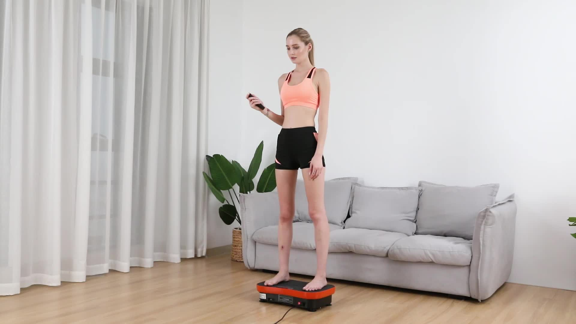 Home fitness equipment whole body exercise machine mini vibration plate with 200W