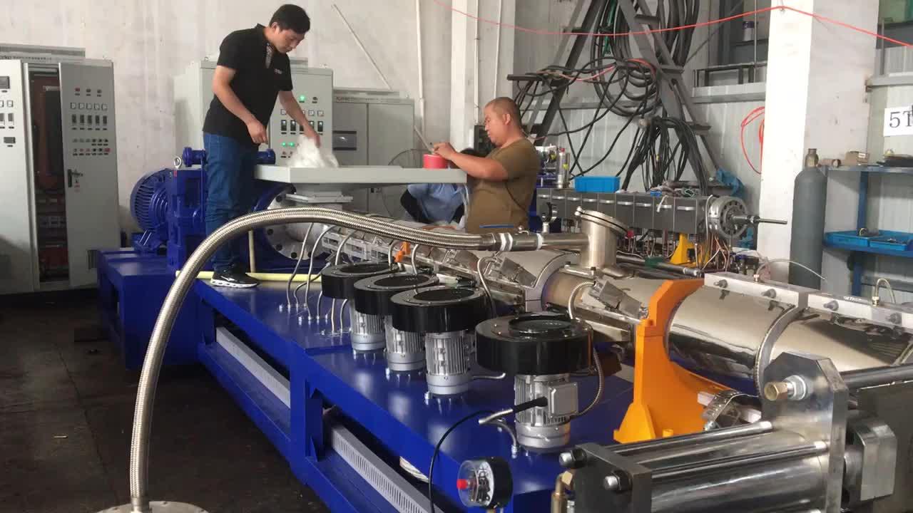 máquinaextrusorade alta eficienciade reciclaje de residuos plásticosúltima tecnología China precio bajo