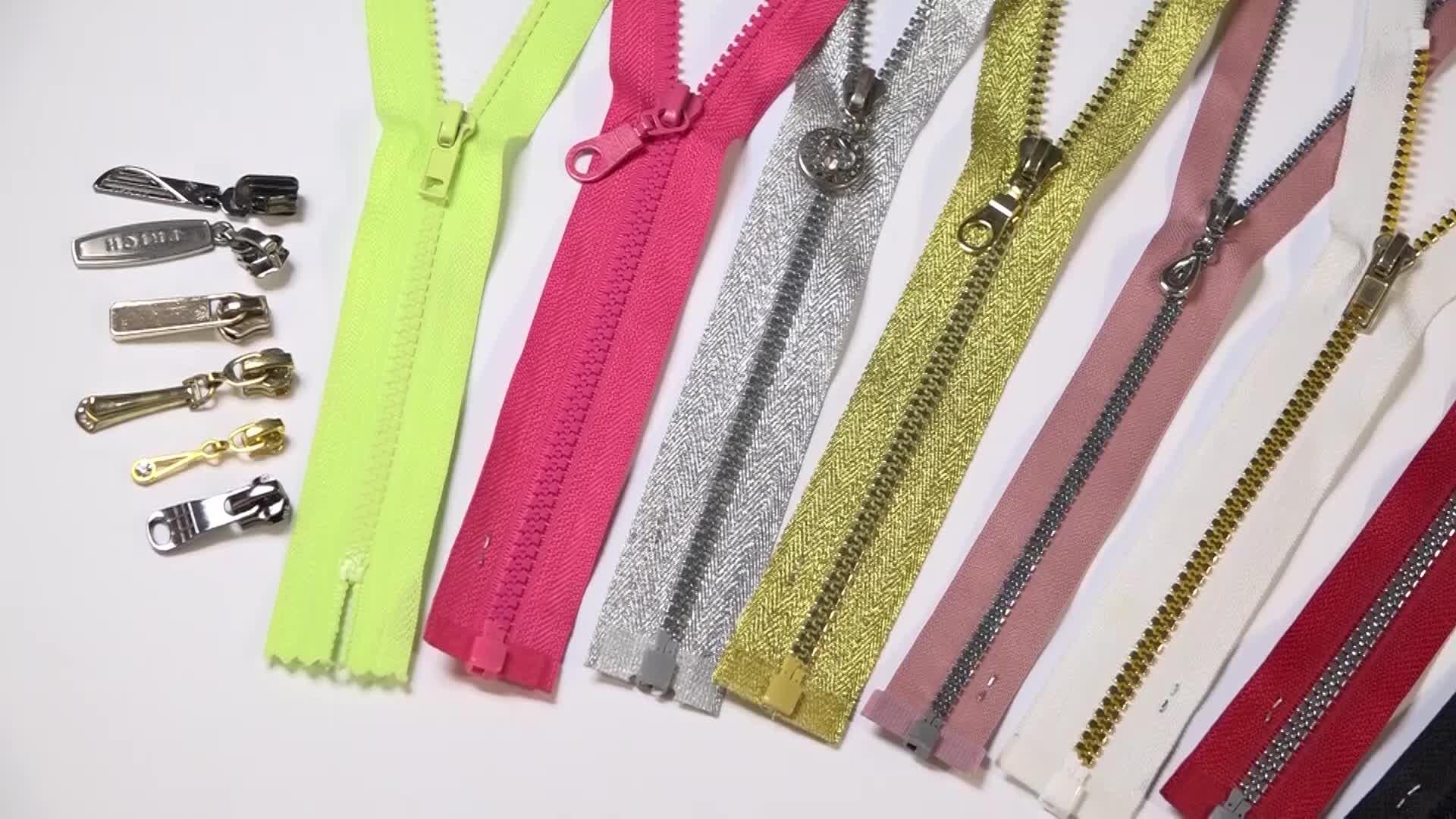 #5 Reflective Plastic/Resin Separating Zipper for Raincoats