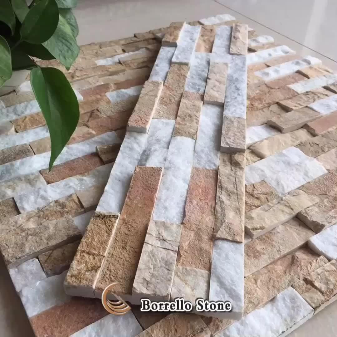 Bahçe için karışık renk doğal çakıl mozaik karo