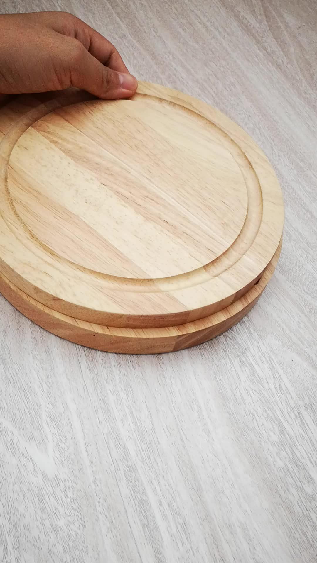 Plateau de Fromage en bois Avec Couvercle Et Lame De Fromage Planche à Découper En Bois