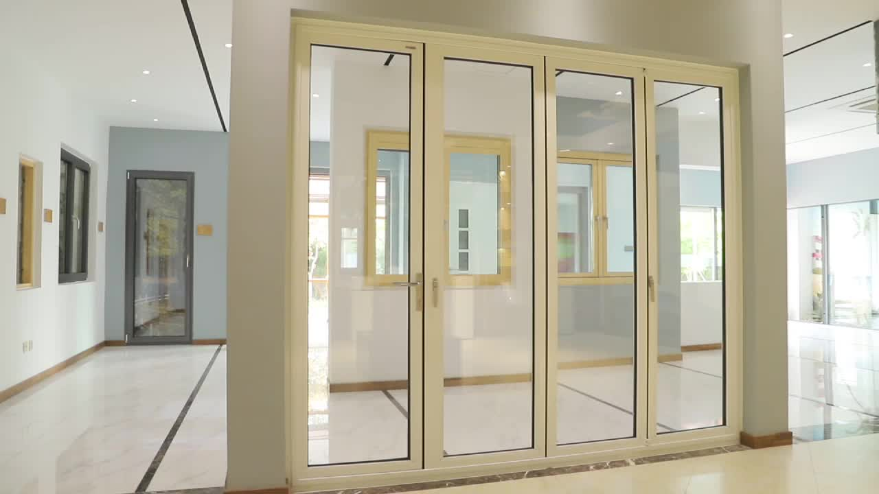 Roomeye aluminum glass bi fold door