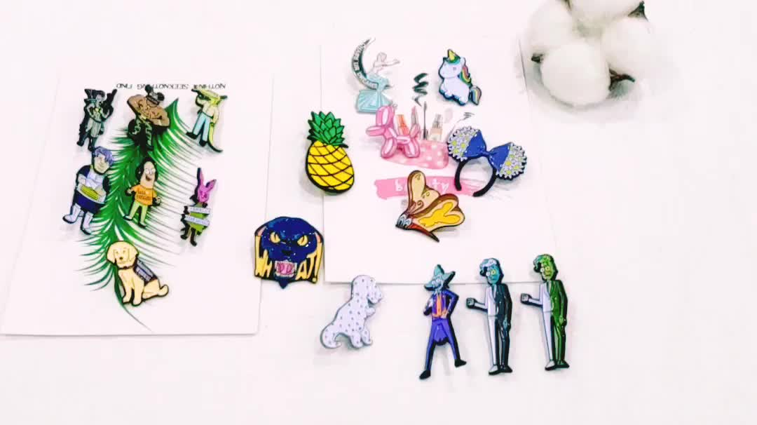 Custom Offset printing spin pin for baseball Funs lapel pins for Ball game