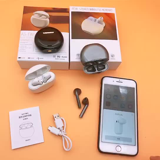 2019 Trends A3 TWS Twins True Stereo mini wireless earbuds Earphone with Charging Case