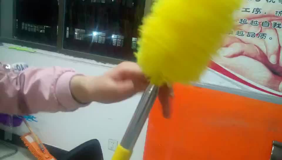 telescopic microfiber car cleaning brush with round head