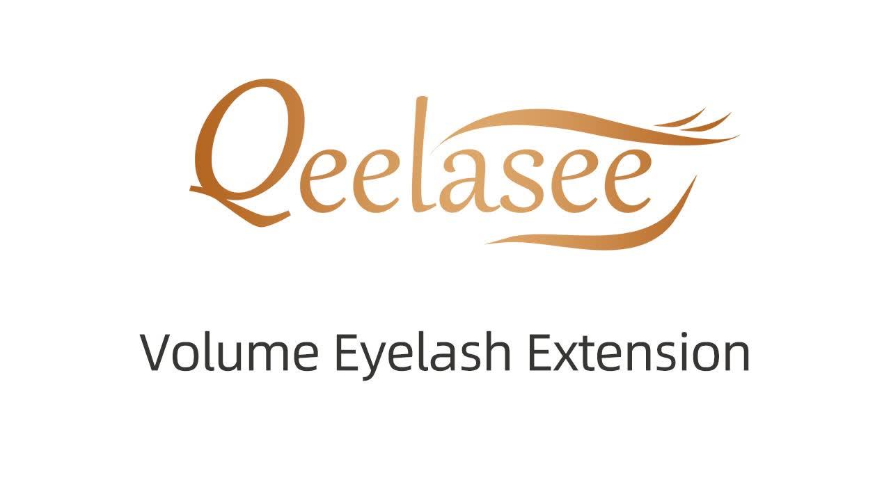 Qeelasee все размеры 0,03-0,25 норковые объемные Индивидуальные Наращивание ресниц частная этикетка