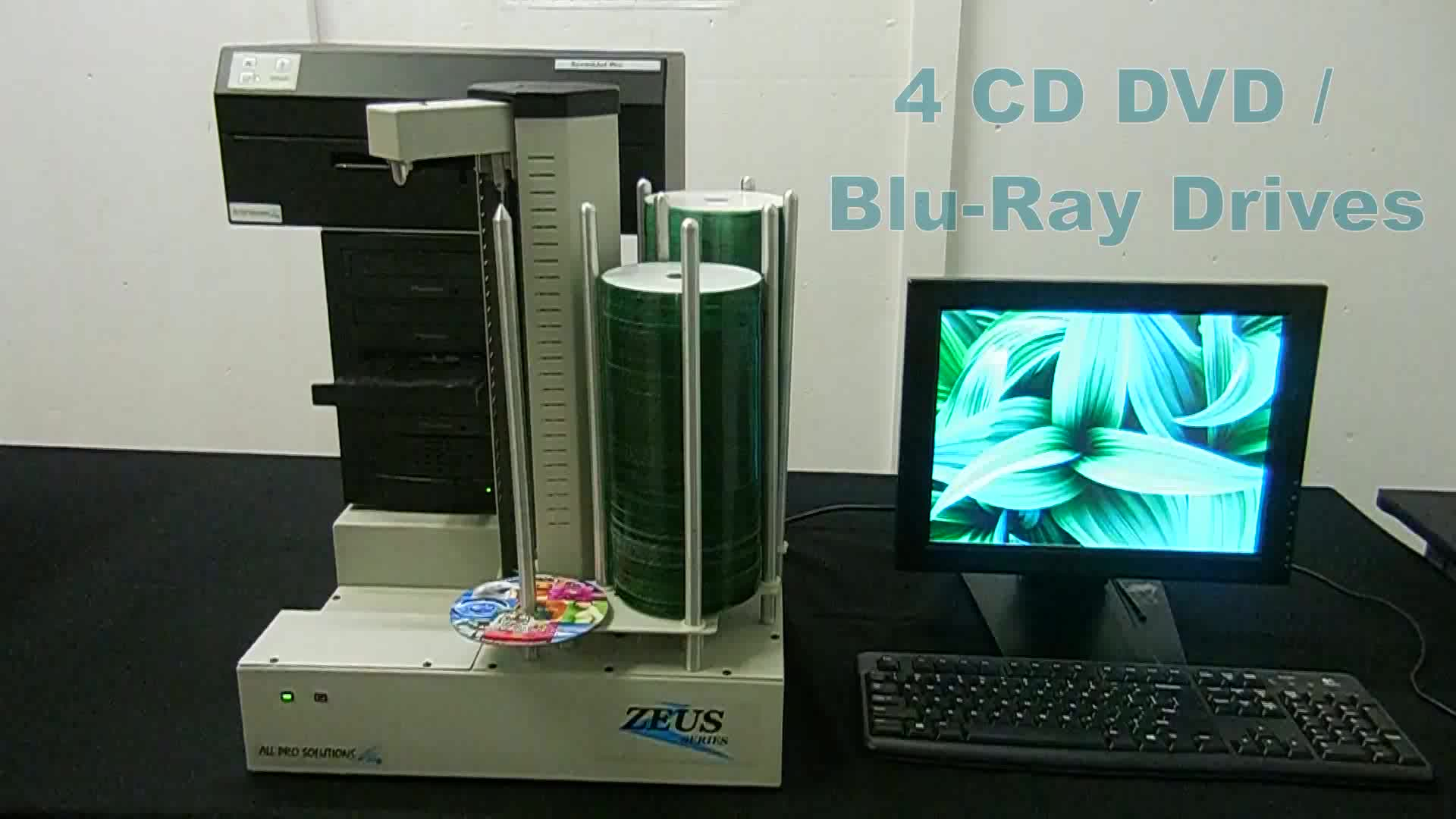 Zeus 4H BD Blu-Ray Publisher w/ Built-In PC, Inkjet Printer & 420 Disc Capacity