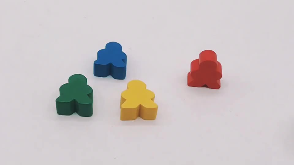 Full 16mm 50pcs Assorted Wooden Meeples For Board Game