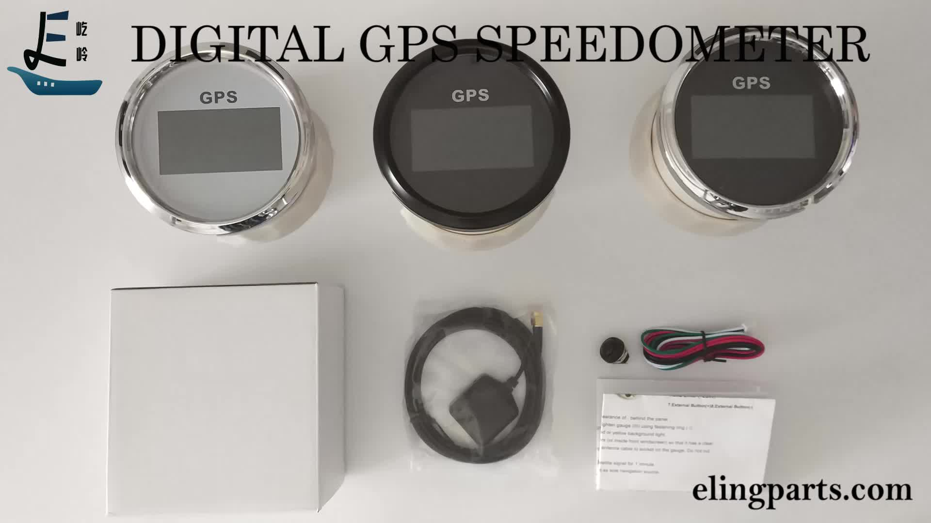 7 Backlights Motorcycle 85mm Digital GPS Speedometer COG Odometer Mileage Trip Counter Adjustable With GPS Antenna