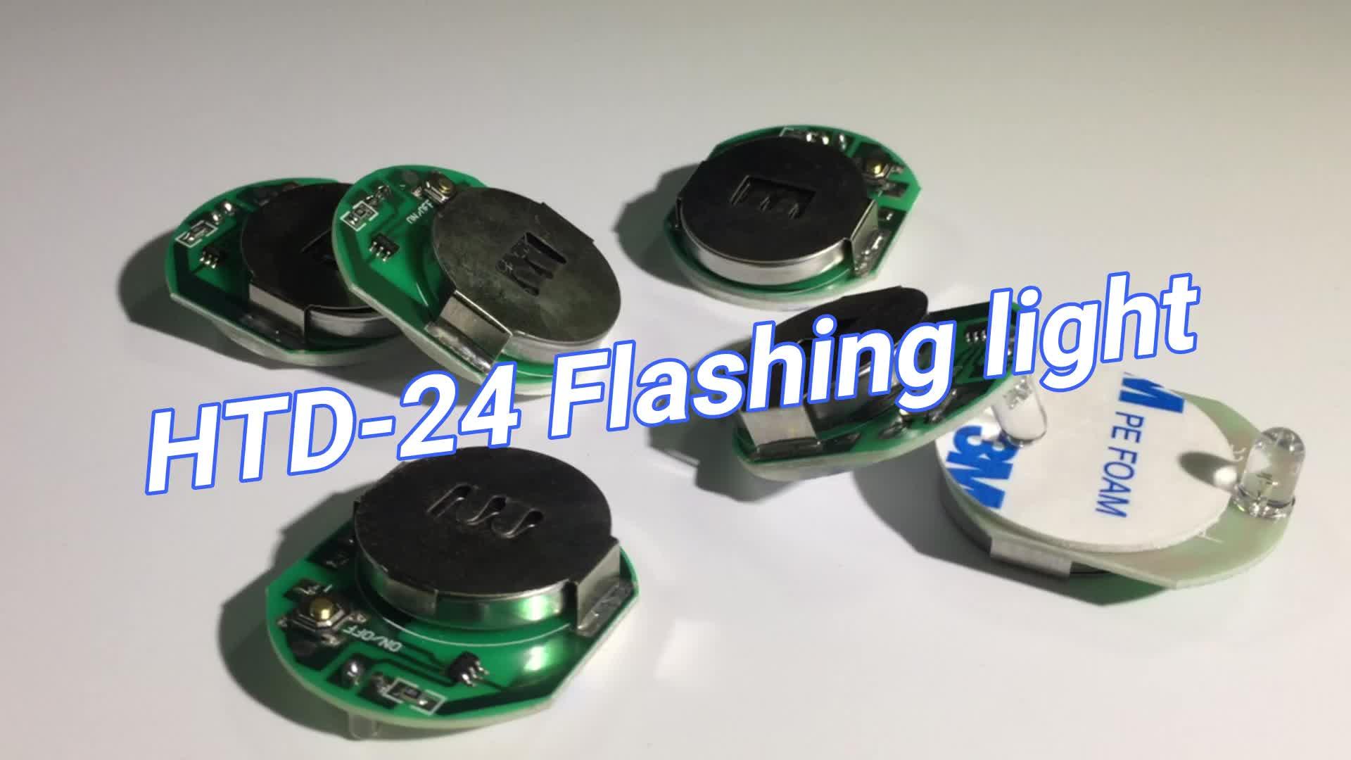 R/G/B/W colore LED Lampeggiante luce con la batteria CR 2450/2032