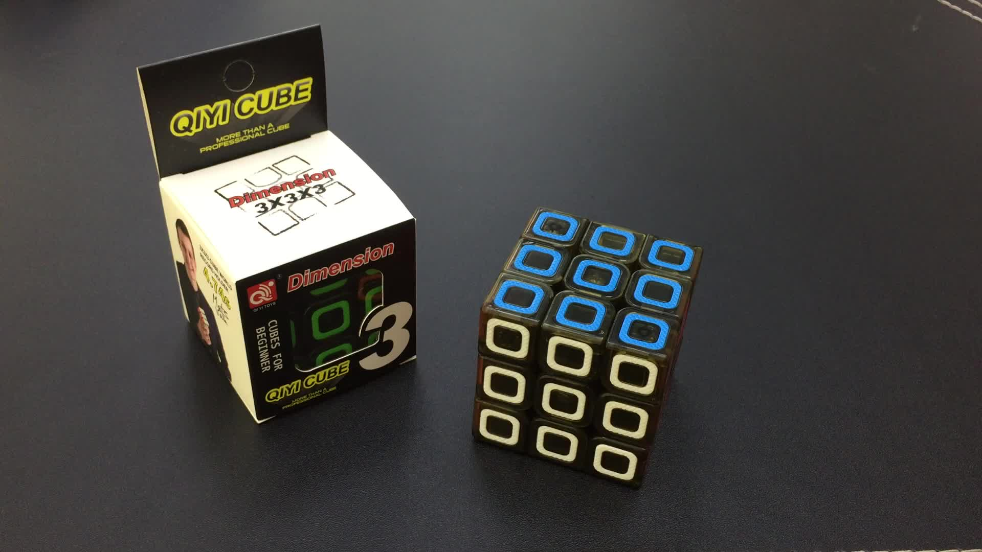 Dimension transparent stickerless 57mm qiyi 3x3x3 speed cube for simply