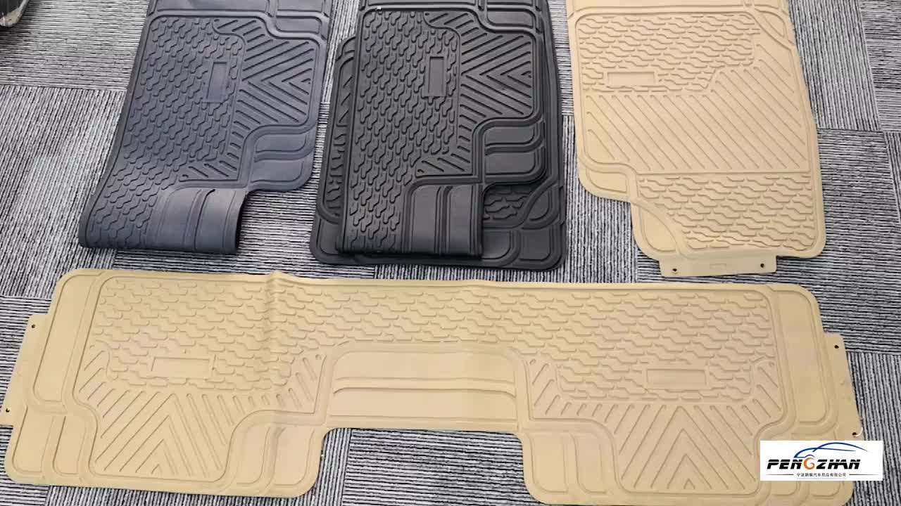 Floor Carpet /Piso Para Auto/3PCS Rubber/PVC Universal Car Floor Mats(EVO 1003N)