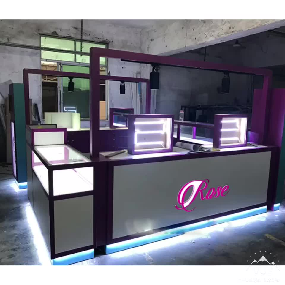 2019 hot sell fashion curved nail and eyebrow threading kiosk for sale