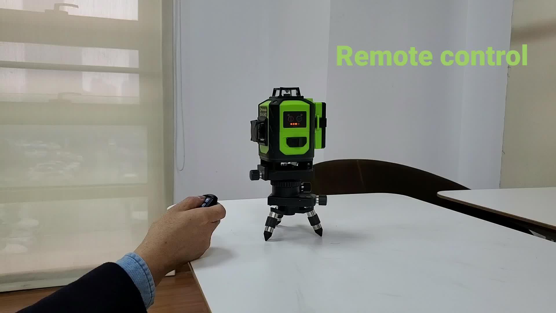 4D зеленый самовыравнивающийся 360 градусов горизонтальный и вертикальный 16 линий лазерный уровень 4d/Fukuda 4D лазерный уровень