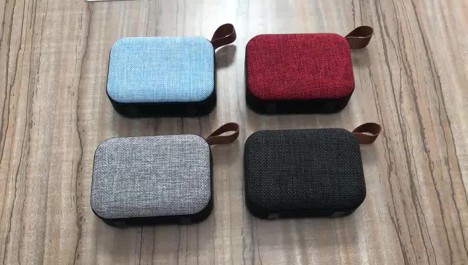 Wholesale new mini portable wireless fabric cover blue tooth speaker  with memory card