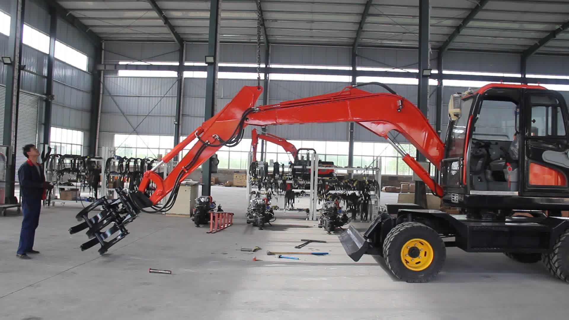 8 ton no usado barato nuevo excavadoras de ruedas para la venta