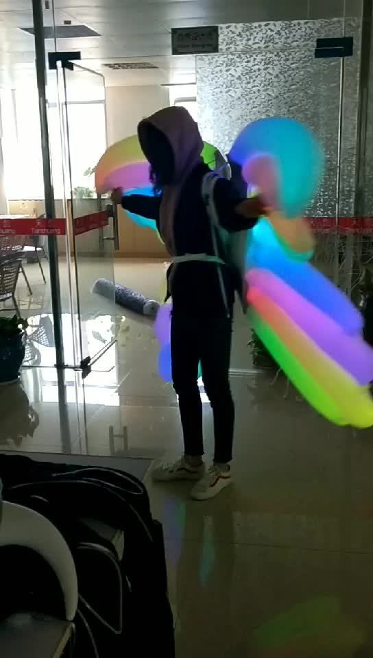 LED Inflatable Butterfly Inflated Fairy Wings