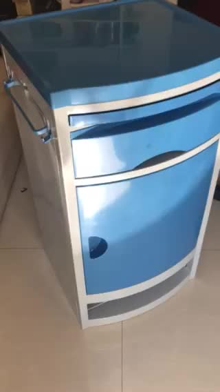 THR-CB404 ABS Bedside cabinet with four castors