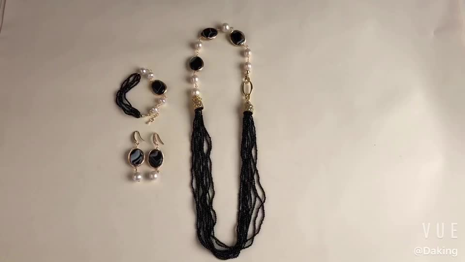 Fashion jewelry set 3 piece earring sets necklace for women