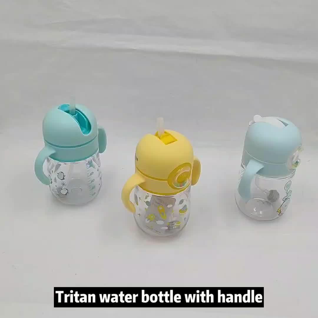 OEM Klar Wasser Flaschen BPA FREI Mit Stroh Trinken Griff Tritan PP Ausbildung Tasse Kinder Produkte von Alle Arten Mit individuelles logo