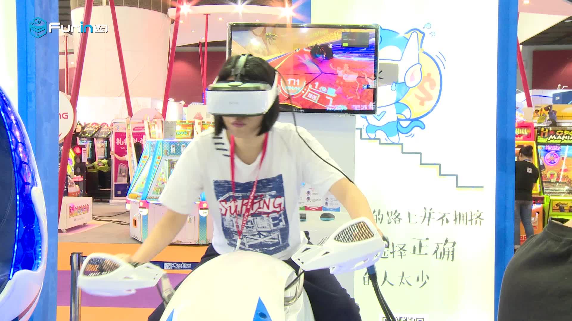 Zhuoyuan funinvr ISO 9001 fabriek 9d vr game VR racing moto hot vr park simulator