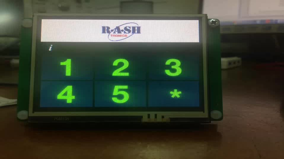 Flexible tft lcd industrial resistive transflective HMI display