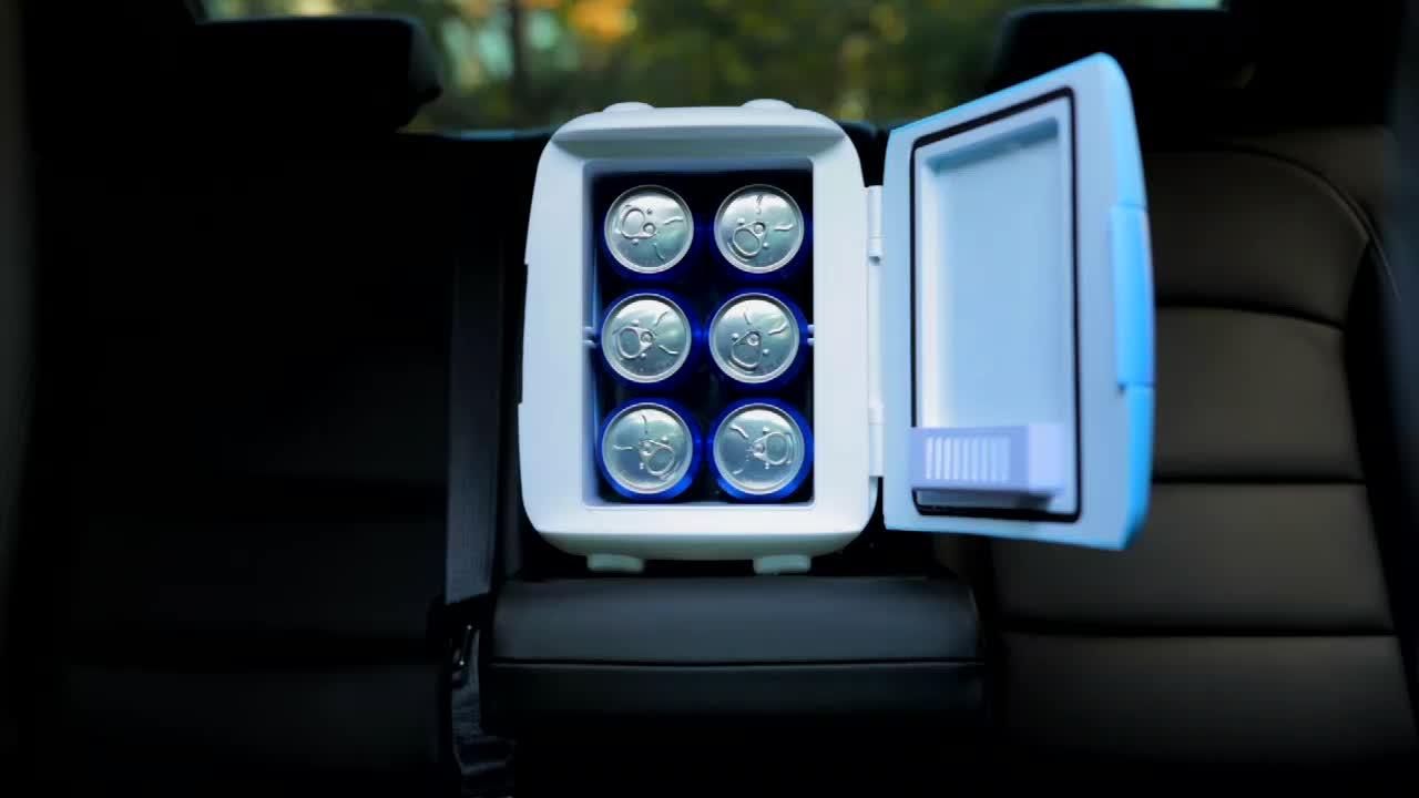 Hot sale colored cooler and warmer portable mini fridge 5l mini usb car fridge