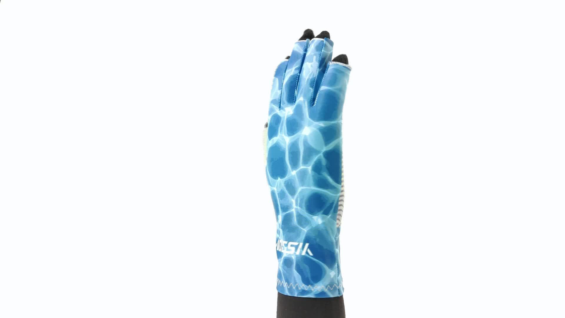 Su ordine all'ingrosso uv guanti di protezione solare upf 50 + senza dita guanti per il kayak da pesca escursionismo escursioni in bicicletta di guida a vela di ripresa