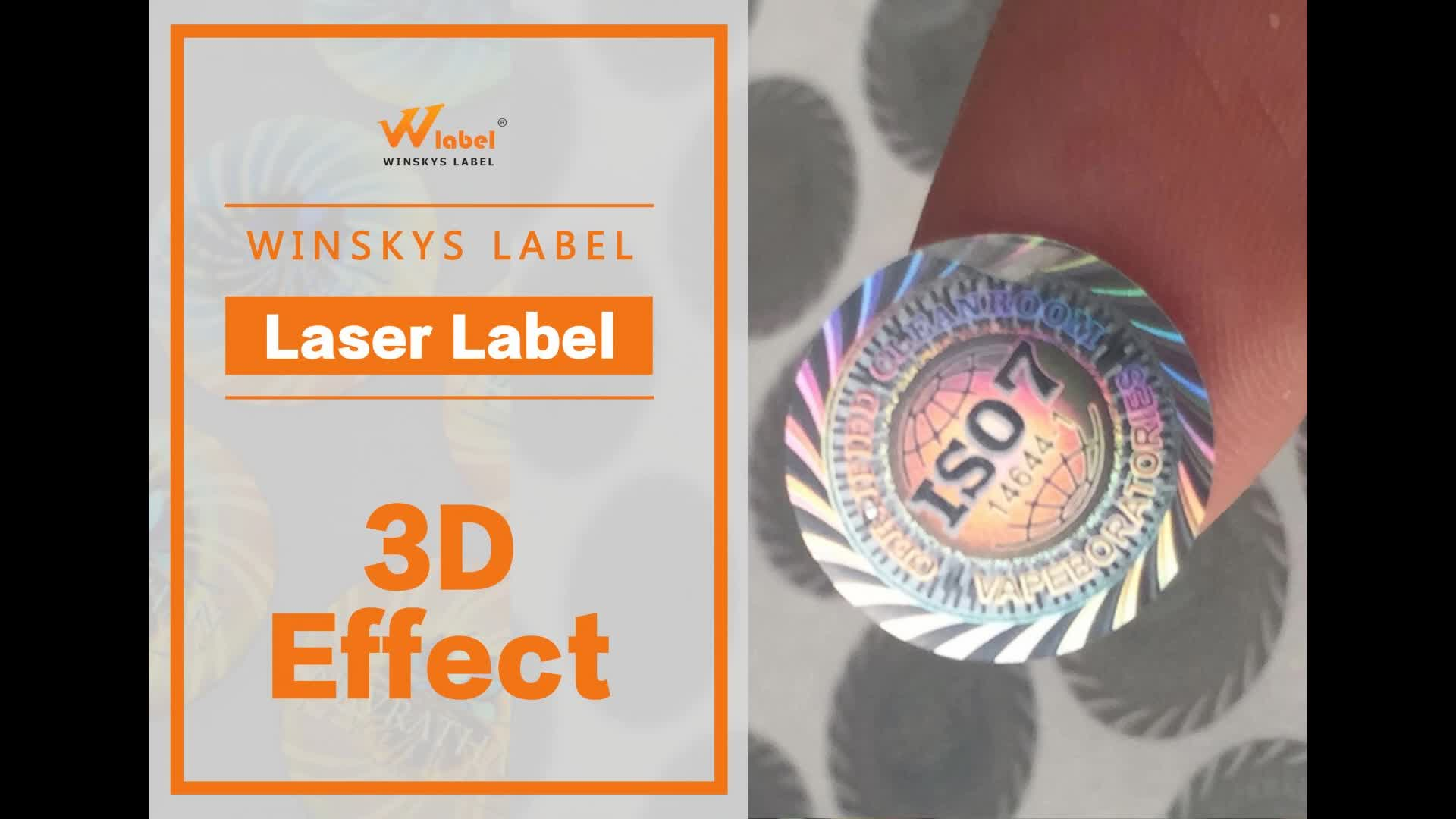 Cheap custom made 3d security transparent laser hologram label paper stickers anti fake adhesive sticker