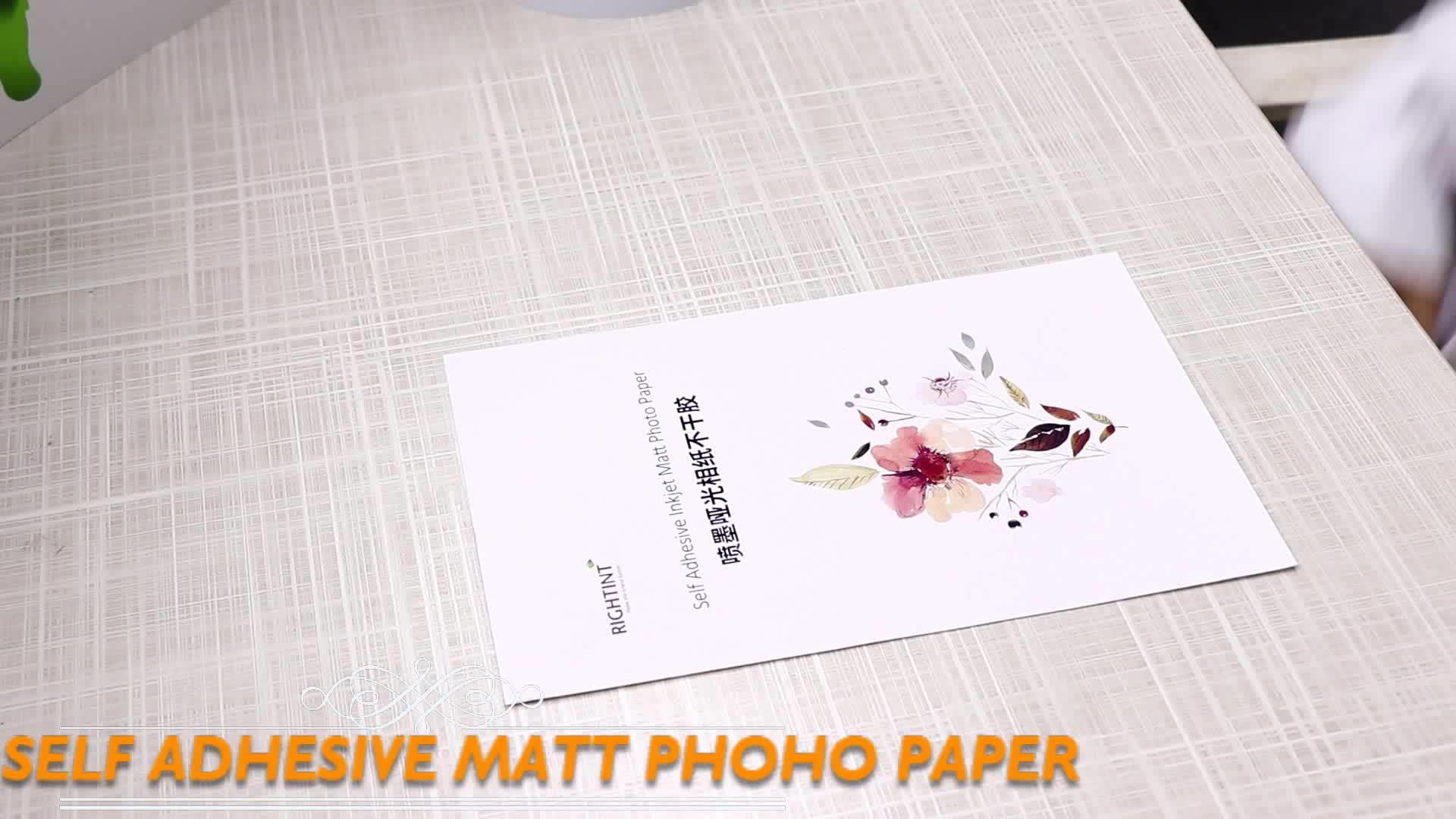 Auto-Adhésif Papier Photo Mat Pour L'impression À Jet D'encre
