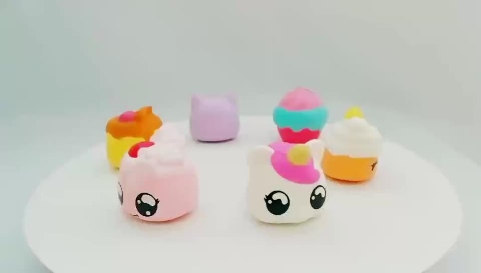人気かわいい就学前のおもちゃ PU 泡シミュレーションケーキ遅い上昇おもちゃのための