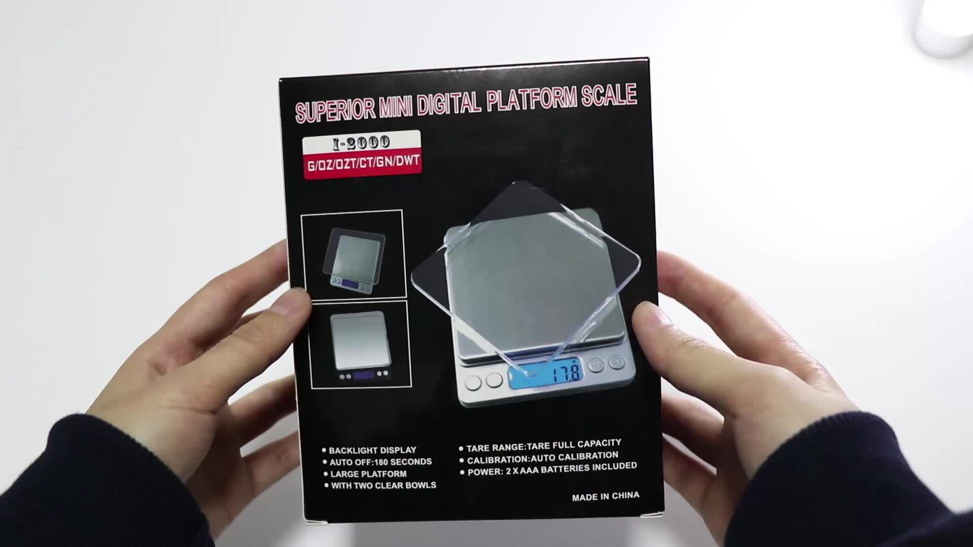 500g 0.01g Wholesale Electronic Digital Pocket Jewelry Scale with Back-Lit LCD