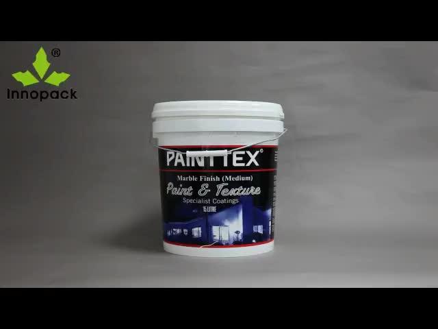 15L weiße Kunststoff-Farbfässer / Eimer / Eimer mit leichtem Aufreißdeckel