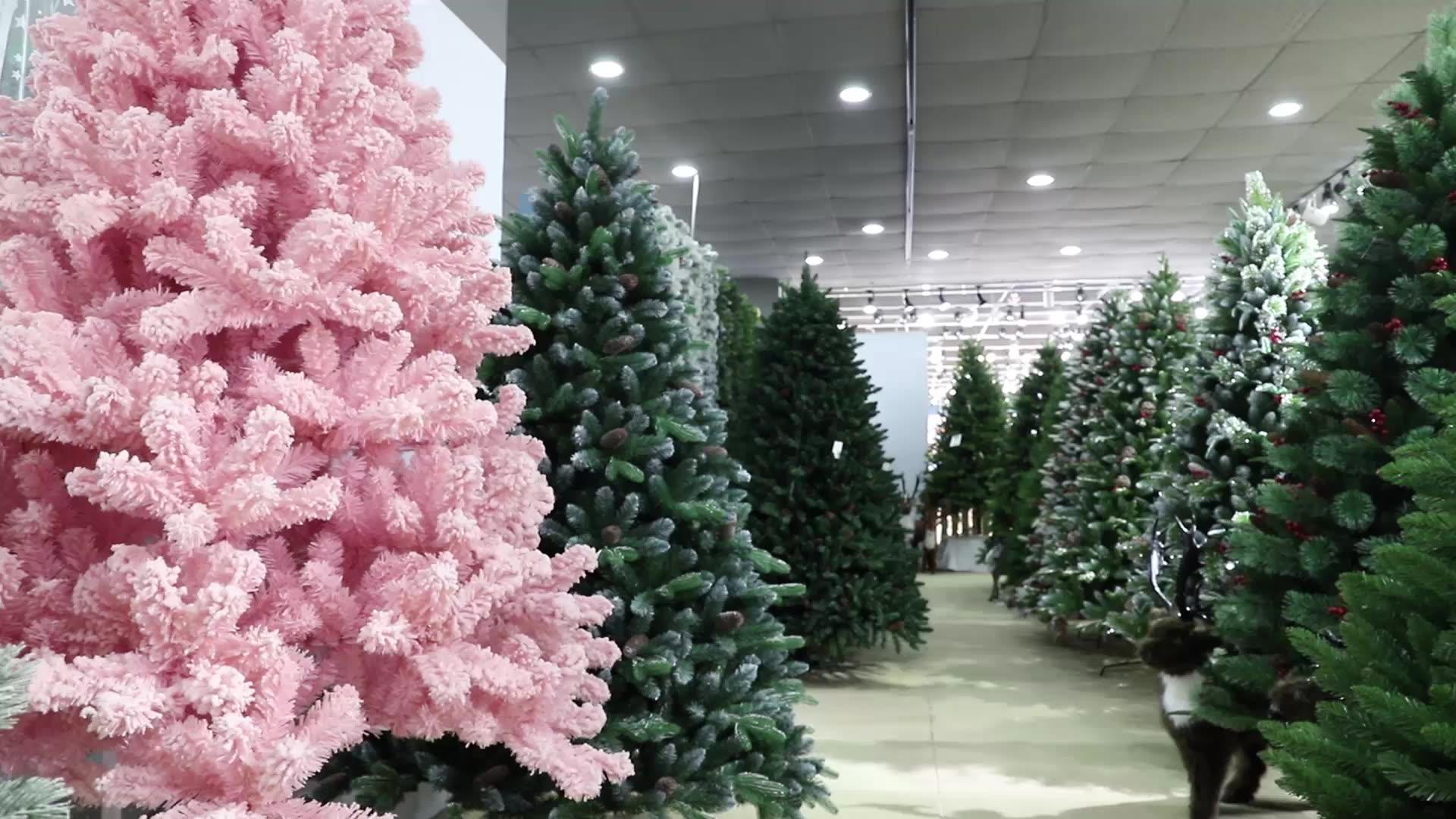 Luxury 210cm mixed Leaf Christmas  Decorative tree with warm white LED lights