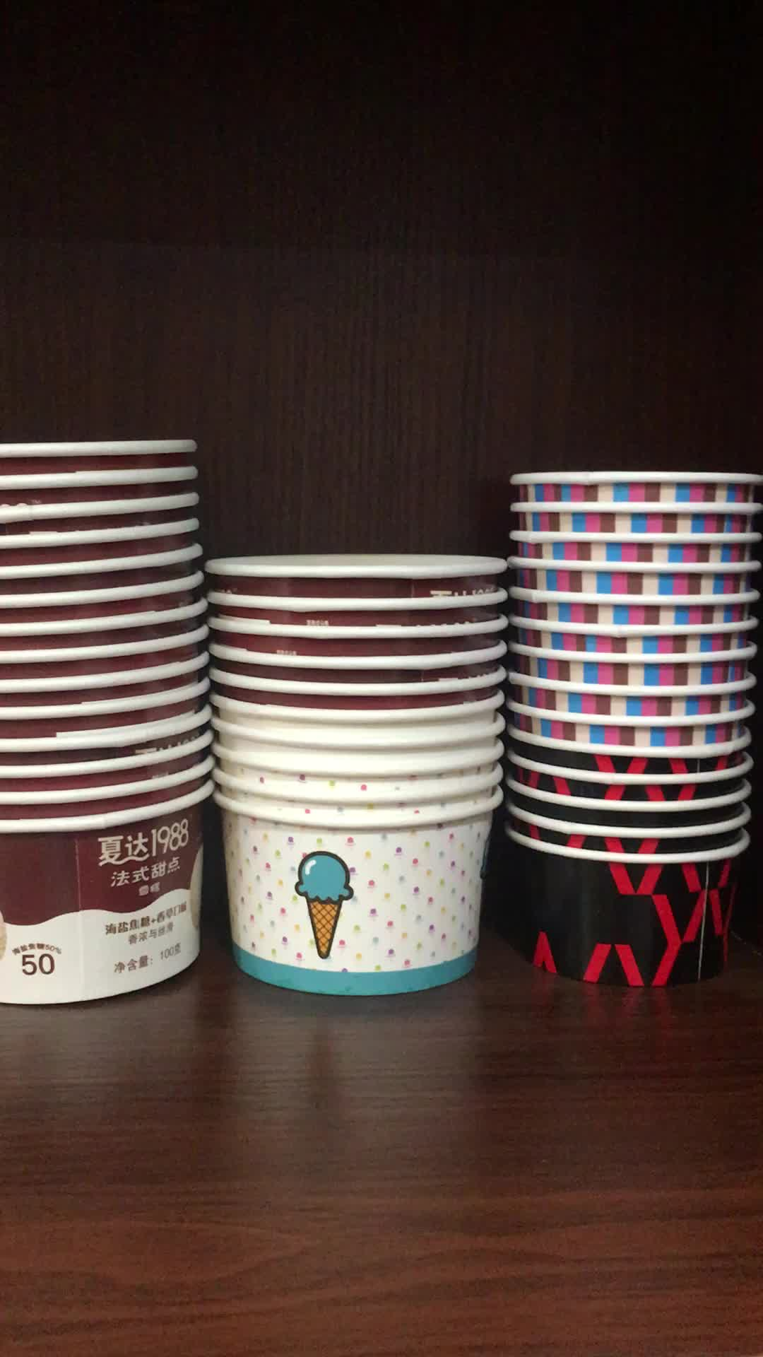 5 oz and 10 oz Ice Cream Paper Cup with Dome Lid for Catering Supply the Roll Ice Cream or Gelato or Yogurt