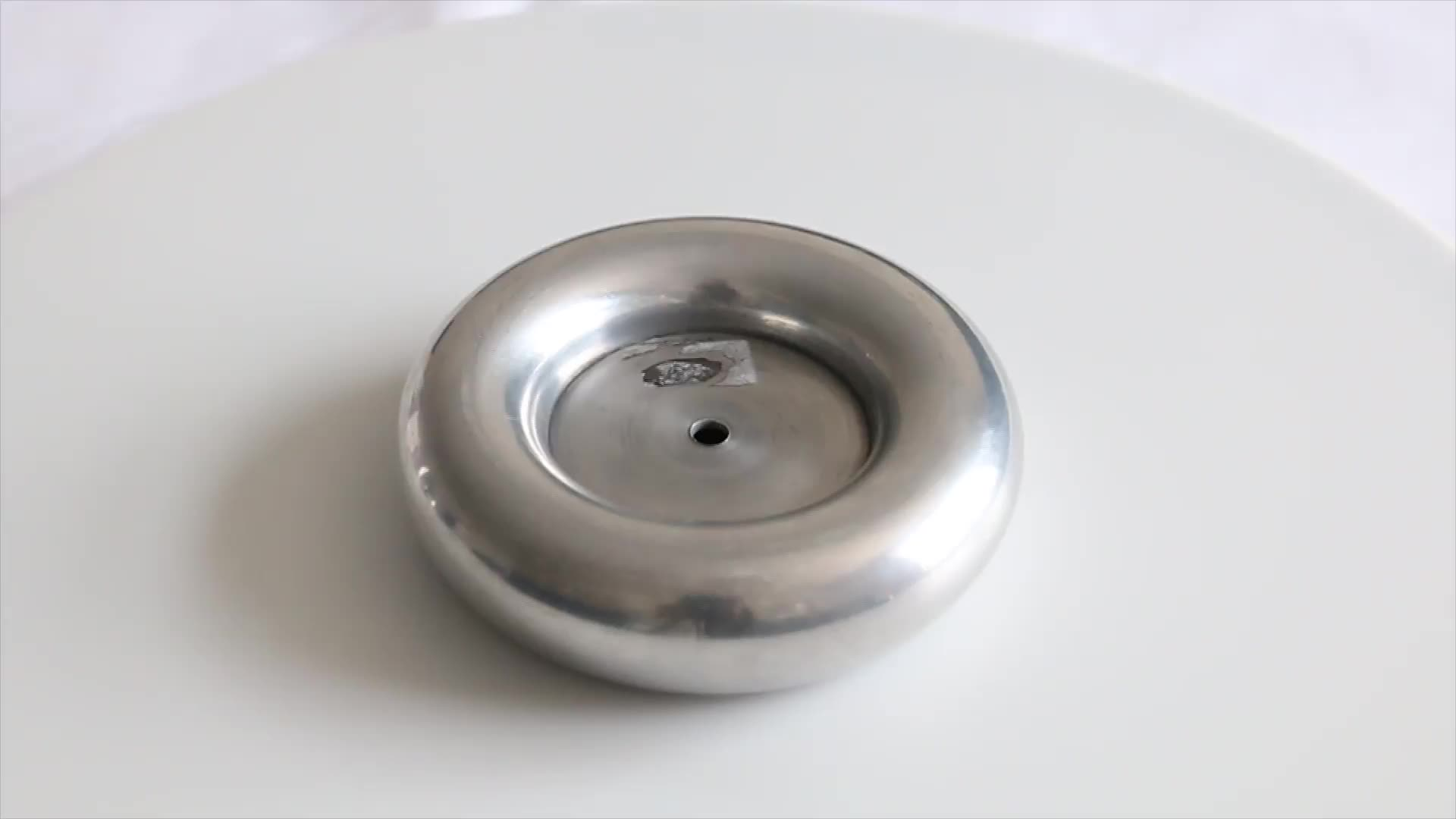 Aluminum spinning Toroid used for tesla coil